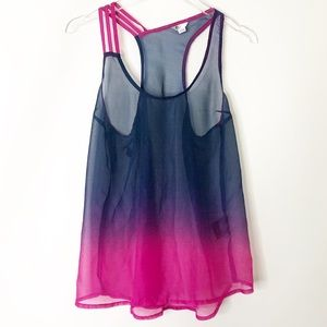Volcom dip dye sheer tank top